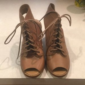 Women's lace up booties worn once size 7.5